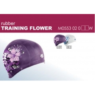 Plavecká čepička TRAINING FLOWER rubber