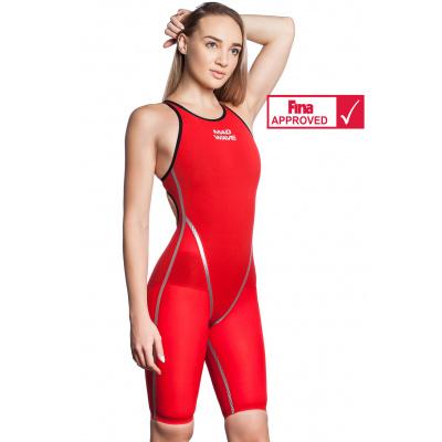 Plavky závodní dámské FORCESHELL red